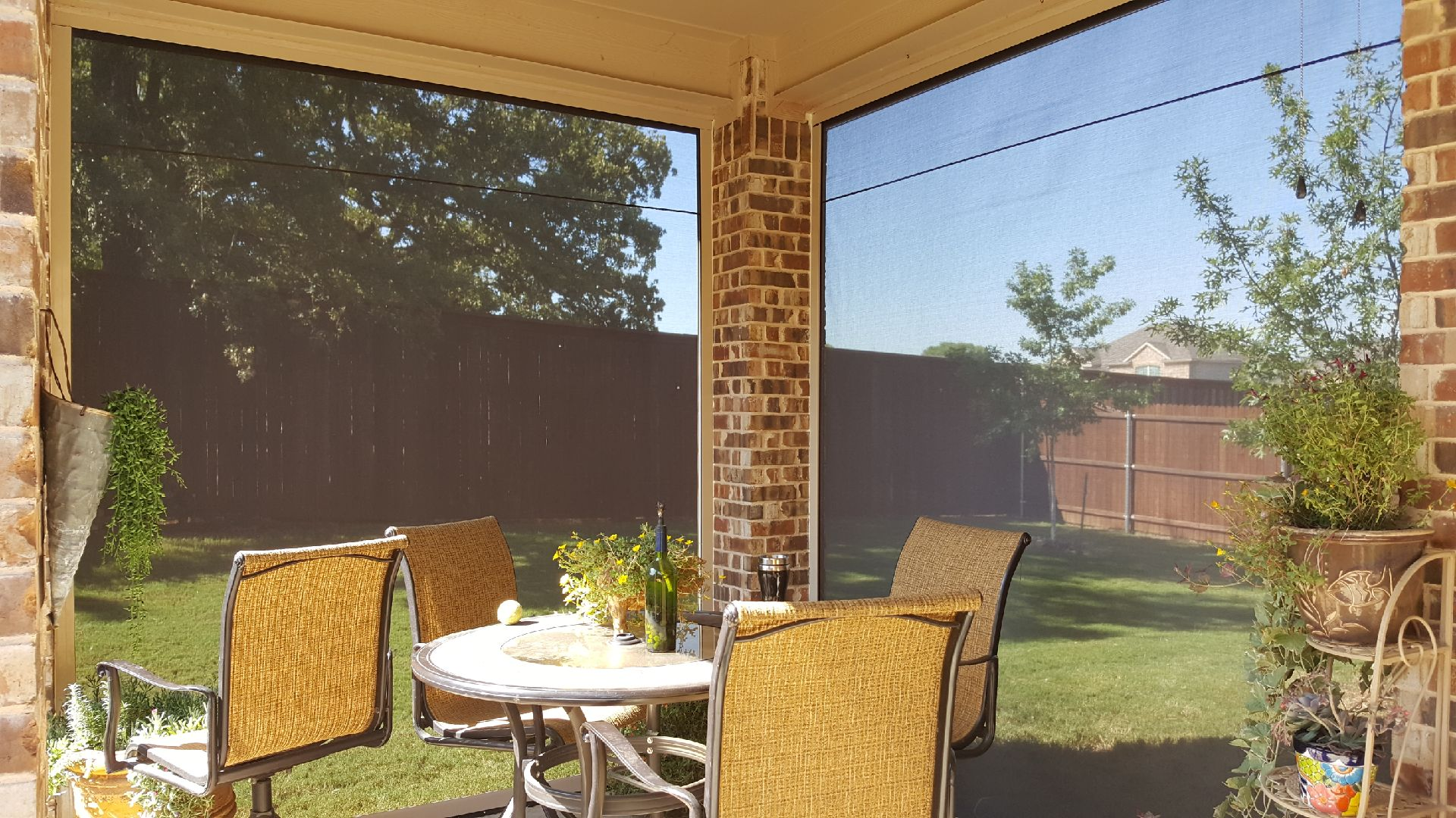 Patio Roll Away Shades Longhorn Solar Screens