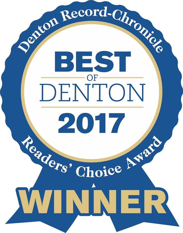 Best of Denton 2017 Readers Choice Award Winner!