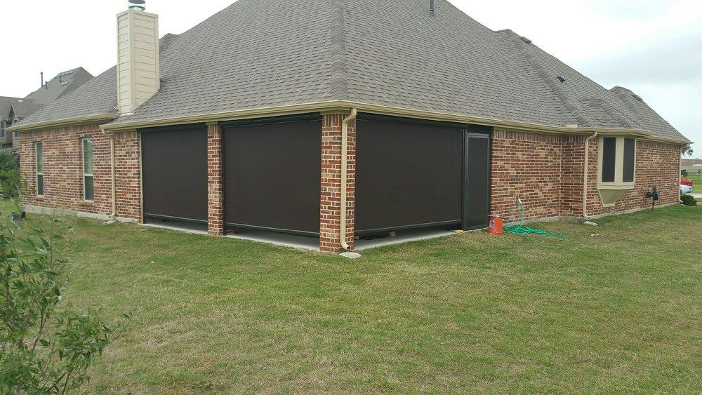 Patio Roll Away Shades Gallery Longhorn Screens