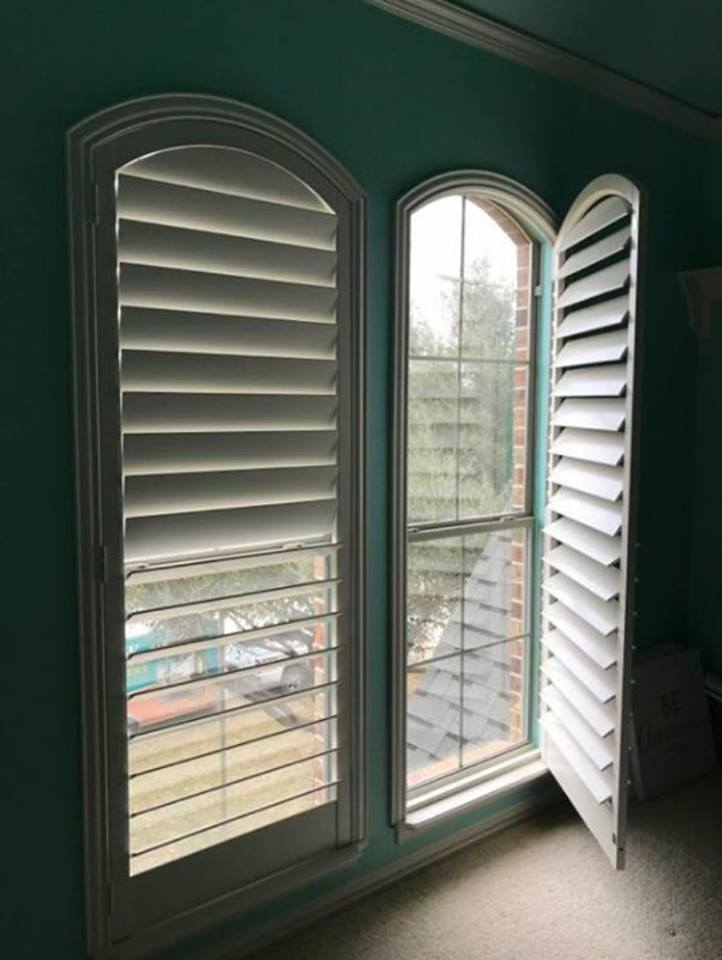 Plantation Shutters for Oddly-Shaped Windows
